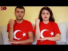 İşaret dili ile İstiklal Marşı   Mevlüt & Sevil - YouTube