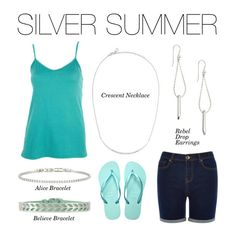 Stella & Dot Silver Summer - Add our newest Fall Preview silvers and make this summer shimmer. #Stelladot #StelladotStyle #FallPreview Crescent Necklace, Rebel Drop Earrings, Alice and Believe Bracelet