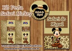 kit festa safari do mickey