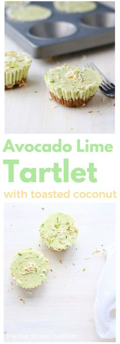 Coconut Avocado Lime Tartlets  with an Allmond Crust - gluten free