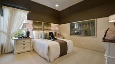 Your #teen will feel like a #queen in this spacious #bedroom with unique #wall #design and #oversize #windows. #interior #design #ideas