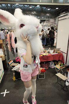 o mai god, can i have a giant rabbit head too?! #awesome #rabbit #head