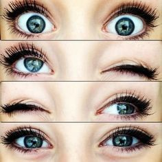Beautiful eyes; see how she did the trick with the eyeliner?