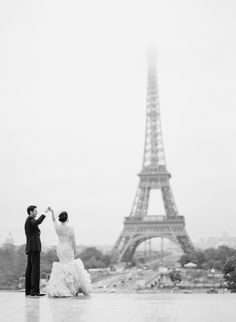 Dancing in Paris. Photography: KT Merry - www.ktmerry.com  Read More: http://www.stylemepretty.com/2014/01/16/paris-destination-wedding-at-hotel-crillon-part-ii/