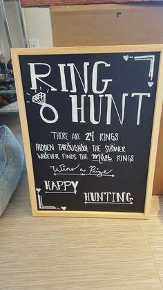 Ring hunt bridal shower game board