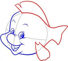 I think everyone is familiar with the adorable little fish that hangs around with Ariel in Disney& The Little Mermaid . As I browsed through all the . Easy Disney Drawings, Disney Drawings Sketches, Fish Drawings, Chalk Drawings, Cartoon Drawings, Drawing Sketches, Drawing Guide, Little Mermaid Drawings, Little Mermaid Characters
