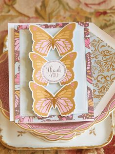 Flutterby Kisses by Josephine Kimberling greeting card