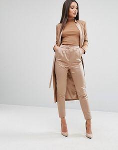 Lavish Alice Tailored Pants In Satin