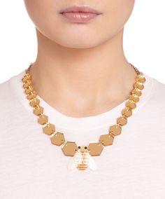 Honey Bee Geometric Necklace