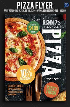 Buy Pizza Flyer by sparkg on GraphicRiver. Pizza Flyer It's unique flyers, poster design for your business Advertisement purpose. Portfolio Graphic Design, Food Graphic Design, Food Menu Design, Food Poster Design, Pizza Menu Design, Pizza Flyer, Menu Flyer, Restaurant Flyer, Restaurant Menu Design