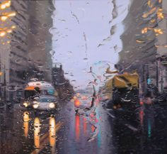 Gregory Thielker Rainy Day Traffic paintings - more inside.