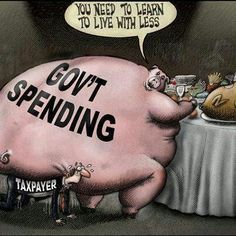 Gov't : You need to learn to live with less. --- What uncontrollably spending on the backs of Taxpayers creates....death!