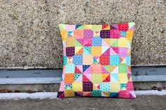 Mystery Quilted Pillow Pattern by Jeni Baker, via Flickr