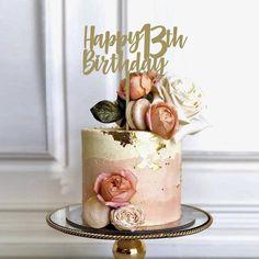 40th Birthday Cake For Women, Modern Birthday Cakes, Birthday Cake For Women Elegant, Girly Birthday Cakes, 14th Birthday Cakes, Beautiful Birthday Cakes, Birthday Cake Designs, 25th Birthday, Birthday Ideas