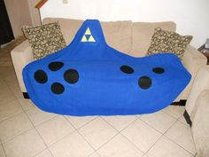 Legend of Zelda Giant ocarina LOZ fleece blanket by Stitch3d, $65.00