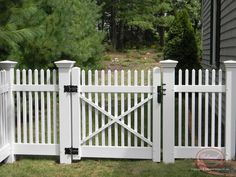 Tight pickets - Vinyl Fence: Open-Spaced Picket | Colonial Fence Co. Norfolk, MA