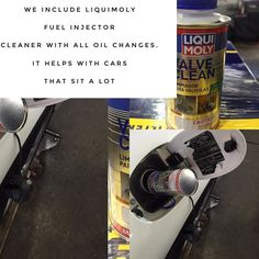 Fuel injectors can get gummed up in cars that sit a lot so we include LiquidMoly injector cleaner with all oil changes.  #doylestown