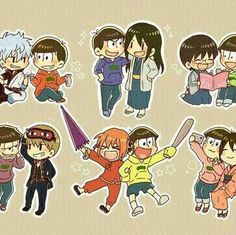 Osomatsu-san and Gintama crossover Best Crossover, Fandom Crossover, Anime Crossover, Manga Art, Manga Anime, Anime Art, Gintama, Otaku Problems, Ichimatsu