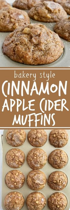 Soft cinnamon apple cider muffins loaded with chunks of apple and topped with a generous helping of cinnamon & sugar! These muffins will make your house smell amazing. These muffins are a must make recipe for Fall | www.togetherasfamily.com #muffinrecipes