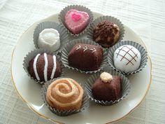 Felt Food ~ Chocolate Truffles