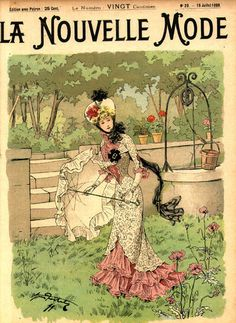 """Cover of """"La Nouvelle Mode"""" (The New Fashion), dated July 16, 1899."""