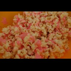 Candy coated popcorn...