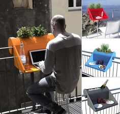 Great idea. Balcony: Like a Garden, But In The Air - Terrys Fabrics's Blog | Terrys Fabrics's Blog