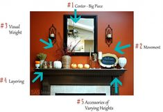 Ideas for how to decorate a mantel