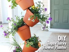 DIY Garden Project: Topsy Turvy Flower Planter | we heart this