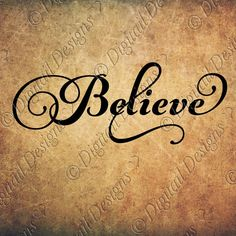 Believe SVG PNG DXF Eps Fcm Cut file for by DigitailDesigns