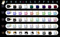 """Neko Slippers • Standalone, non default • New Mesh • Female, from teen to elder • 8 colors per letter • Tag decayclownsims if you use it ♥ """"Download A • B • C • D • E """""""