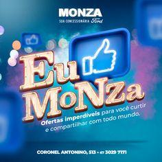 Ford Monza - EU CURTO MONZA on Behance Typo Design, Ad Design, Social Media Banner, Social Media Design, Banner Design Inspiration, Creative Advertising, Design Quotes, Motion Design, Art Director