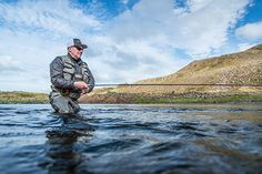 Steini Einarsson, the founder of Einarsson Fly Fishing and the designer of Einarsson Fly Reels, fishing at Nordura river Iceland. Fly Fishing Rods, Fishing Reels, Fly Reels, Iceland, Photo Galleries, Around The Worlds, River, Gallery, Pictures