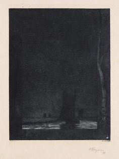 Heinrich Vogeler Bremen 1872 - 1942 Karaganda, Kazakhstan The night. 1897.