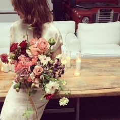 Katie loves the shape of this bouquet