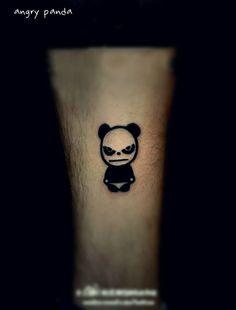Angry #panda #tattoo design