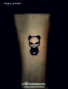 Angry #panda #tattoo design