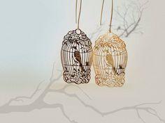 Birdcage Earrings Vintage Style Romantic Earrings by BijuBrill