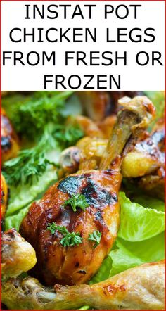 These tasty chicken legs in instant pot are constantly damp, delicate and tasty! These weight cooker chicken bosoms cook flawlessly in minutes from crisp or solidified. Serve your nectar garlic moment Chicken Leg Recipes, Frozen Chicken Recipes, Chicken Drumstick Recipes, Chicken Legs, Frozen Chicken Wings, Cooking Recipes, Healthy Recipes, Easy Recipes, Instant Pot Pressure Cooker