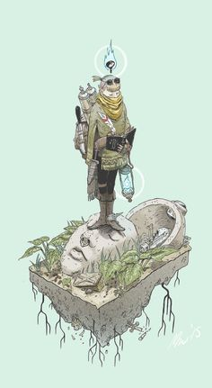 Treasure Hunter, 2015 by Max Prentis Character Design References, Character Art, Character Illustration, Illustration Art, Moebius Art, Inspiration Artistique, Fantasy Artwork, Character Design Inspiration, Art Inspo