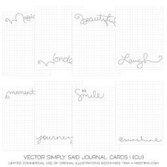 NEW Simply Said Journal Cards + printable freebies!