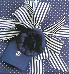 Spots and stripes gift wrapping.