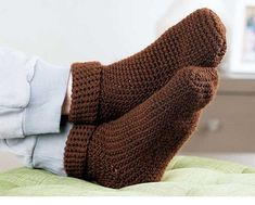 Family Favorites to Crochet slipper socks for him or her