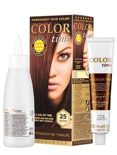 Vopsea pentru par permanenta Color Time - Ingrijire intensa si stralucire. Acopera complet firele albe. In laptisorul de matca, materialul de reconstructie al celulelor parului este format din complexul de 18 aminoacizi, peptide, proteine si steroli care hranesc parul si ii refac structura. 5 Ml, Permanent Hair Color, Lady