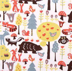 Swedish forest knit monaluna animal organic knit fabric - Knit Fabric - Fabric - kawaii shop modeS4u
