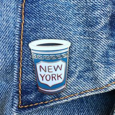 NY Coffee Cup Enamel Pin, NYC, Hard Enamel Pin, Jewelry, Art, Gift (PIN40)