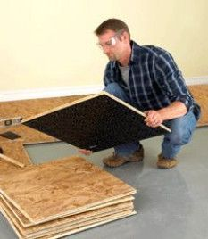 Dricore subfloor - perfect for a subfloor for basements. #BasementFlooringIdeas