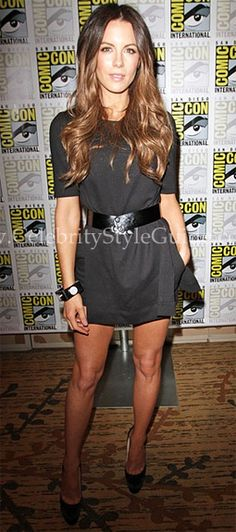 Seen on Celebrity Style Guide: Kate+Beckinsale+at+the+San+Diego+Comic-Con+festivities+on+Friday+July+22,+2011