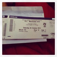 our UFC tickets