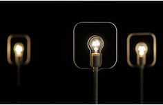 Finally, a lamp that generate flashes of ideas. Design by Holger Volk, this HOLON lamp is a smart design using only an ordinary 15 Watt light bulb with an outline around signaled a bright idea.